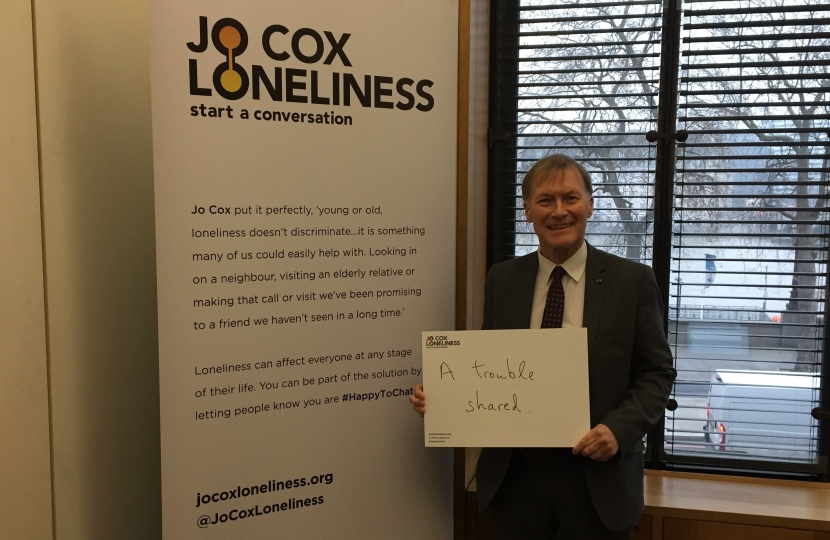 Sir David showed his support for the Jo Cox Commission