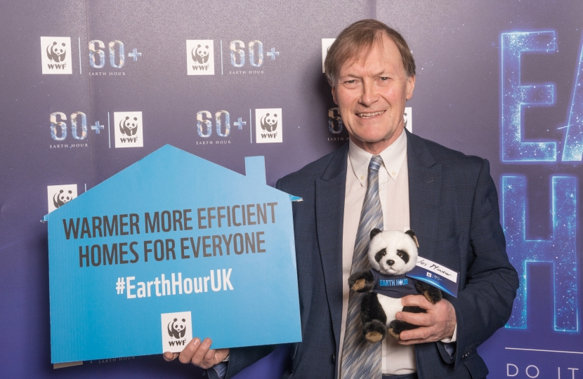 Sir David Amess makes Earth Hour pledge for climate change