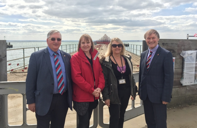 Local MP visits Poppies Wave on Barge Pier