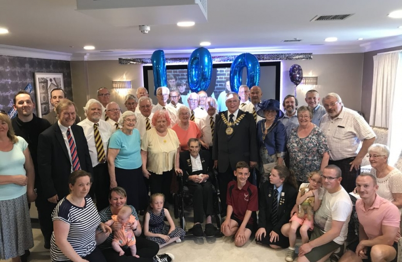 Southend West MP joins local dignitaries at 100th Birthday celebration
