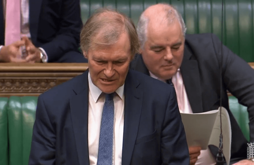 Sir David asks Parliamentary question on Plastic Pollution
