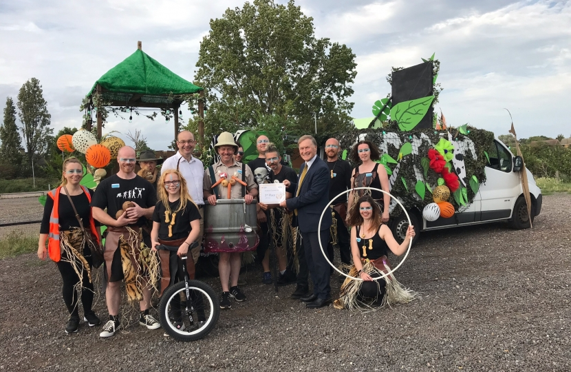 Sir David Amess attends Southend Carnival 2019