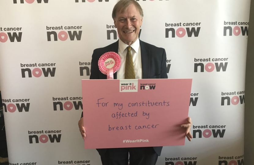 Sir David Amess supports Wear it Pink