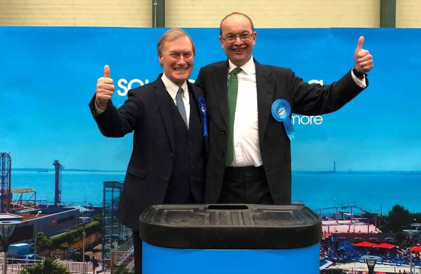 Sir David celebrates re-election with James Duddridge MP