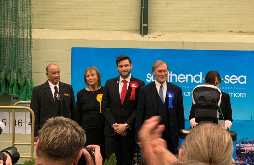 Sir David re-elected as Member of Parliament for Southend West