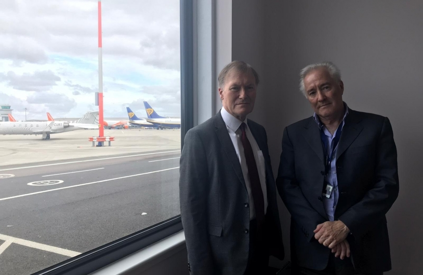 Sir David Amess meets with Southend Airport CEO