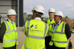 Sir David visits local construction company